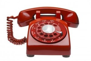 7613010-red-60s-rotary-dial-phone